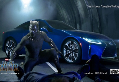 "Super Hero Lexus LC500  in ""Black Panther"""