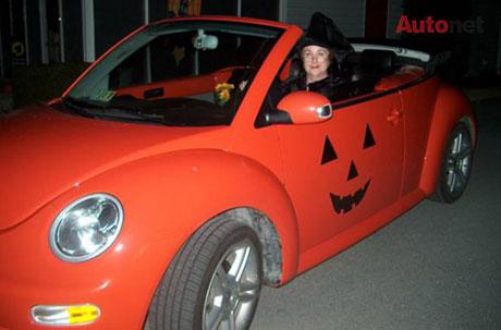 Mui trần màu cam kiểu Halloween