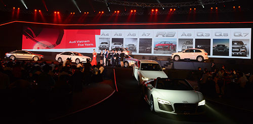 All of Audi car fleet celebrates its 5th birthday