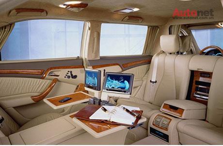Nội thất siêu sang bên trong chiếc S600 Pullma-Presedential W220 đời 2001