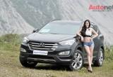 Hyundai Santa Fe 2015 đọ dáng cùng người đẹp