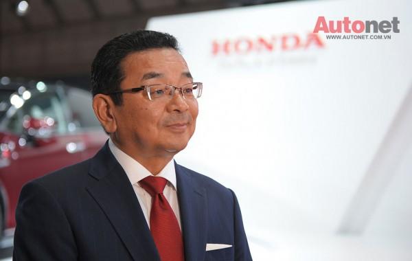 Chủ tịch Honda Takahiro Hachigo cũng có mặt tại sự kiện