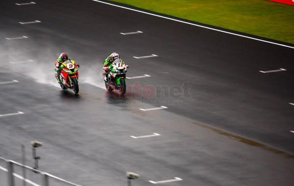 The race was very intense despite of the rain