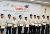 Toyota trao học bổng 2016 cho sinh viên cơ khí xuất sắc