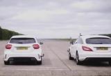 Mercedes-AMG A45 và CLS63 đua drag-race