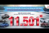 Honda ôtô kỷ niệm 10 năm bằng doanh số bán kỷ lục