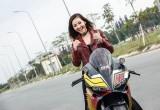 Nữ biker Sài Gòn cá tính bên Ducati 959 Panigale