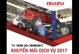 Isuzu Việt Nam tung khuyến mãi dịch vụ đặc biệt 2017