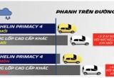 An toàn tối đa với lốp Michelin Primacy 4