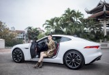 Á hậu Huyền My sắm xế sang Jaguar F-Type Coupé