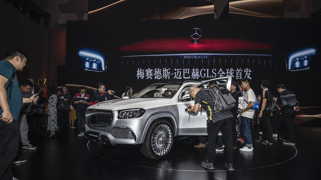 Mercedes-Benz Cars am Vorabend der Auto Guangzhou 2019: World Premiere of the Mercedes-Maybach GLS. Mercedes-Benz Cars at the eve of Auto Guangzhou 2019: World Premiere of the Mercedes-Maybach GLS.