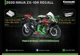 Thông báo triệu hồi Kawasaki Ninja ZX-10R 2020 tại Việt Nam