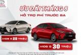 Toyota Vios ưu đãi 30 triệu trong Tháng 8